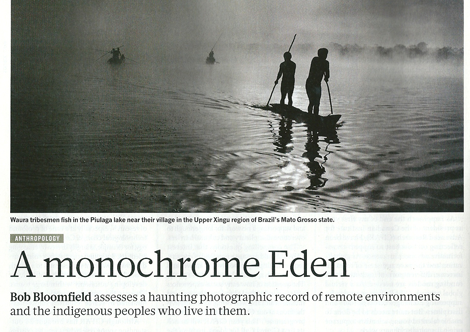 Monochrome Eden - A review of Salgado's exhibition Genesis Nature Magazine April 4