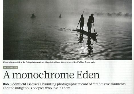 Monochrome Eden - A review of Salgado's exhibition Genesis Nature Magazine April 4