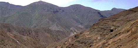 Denuded slopes of St Helena, indiscriminately grazed by feral goats